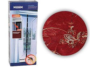 Противомоскитная сетка для балкона 80х220см Rosenberg 7956 bordoСредства против вредителей<br><br>