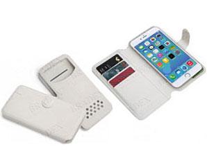 Чехол-книжка универсальный для телефона, белый 14х6,7 см Bradex SU 0020Полезные вещи для дома<br><br>