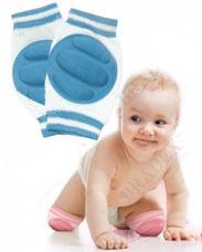 Наколенники детские для ползания голубые Bradex DE 0135для самых маленьких<br><br>