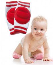 Наколенники детские для ползания красные Bradex DE 0137для самых маленьких<br><br>