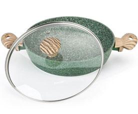 Сотейник Malachite 26 х 6.5 см / 2.85 л со стеклянной крышкой Fissman 4316Сковороды<br><br>