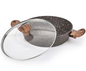 Сотейник Magic brown 26 х 6.5 см / 2.85 л со стеклянной крышкой Fissman 4336Сковороды<br><br>