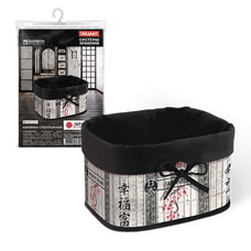 Корзина стеллажная складная, бамбук, 22x15.5x14.5см, Japanesee White Valiant JW-BB-SТовары для гардероба<br><br>