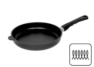 Сковорода 24x5см чёрная AMT I-524-E-Z2 индукция арт. 501524Сковороды антипригарные<br><br>