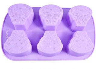 Форма для выпечки 6 кексов Рожок Мороженого 26.2 х 16.5 х 3.5 см Fissman 6540Выпечка<br><br>