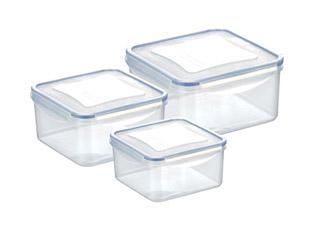Контейнер Freshbox 3 шт., 1.2, 2.0, 3.0 л, квадратный, Tescoma 892042Хранение продуктов<br><br>