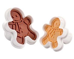 Формочки с печатью для печенья DELICIA, 2 шт., фигурки Tescoma 630858Выпечка<br><br>