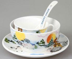 Набор детской посуды Rosenberg 87970 4 прСервировка стола<br><br>
