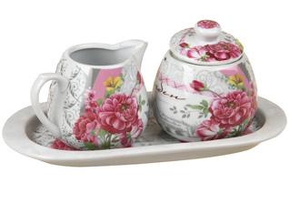 Сахарница и молочник Rosenberg 9241-R (розы)Сервировка стола<br><br>