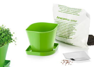 Набор для выращивания пряных растений Sense, кресс-салат, Tescoma 899076Организация и уборка кухни<br><br>