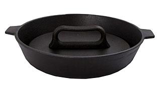 Сковорода гриль чугунная Добрыня DO-3338 (28х6 см)Сковороды антипригарные<br><br>