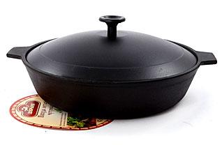 Сковорода с крышкой чугунная Добрыня DO-3318 (26х6 см)Сковороды антипригарные<br><br>