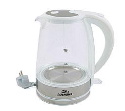 Чайник электрический Добрыня DO-1212 W (1,8 л) 2200 ВтЧайники и кофеварки<br><br>