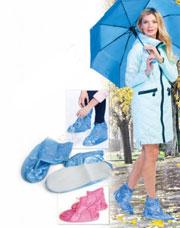 Чехлы грязезащитные для женской обуви - сапожки, размер M, цвет голубой Bradex KZ 0334Товары для дома<br><br>