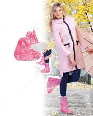 Чехлы грязезащитные для женской обуви - сапожки, размер M, цвет розовый Bradex KZ 0337Товары для дома<br><br>