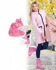 Чехлы грязезащитные для женской обуви без каблука, размер M, цвет розовый Bradex KZ 0340Товары для дома<br><br>