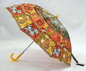 Зонт-трость детский Ame Yoke (Аме Йоке) L-54-3 (авт. с рисунком, спица 54см)Зонты<br><br>
