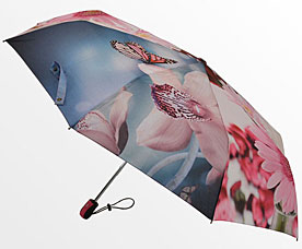 Зонт-автомат женский Ame Yoke (Аме Йоке) OK-58-photo-4 (фото, спица 58см)Зонты<br><br>