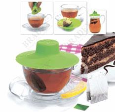 Крышка для заваривания и отжима чайных пакетиков Bradex TK 0196 зеленаяЗаварочные чайники<br><br>