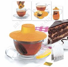 Крышка для заваривания и отжима чайных пакетиков Bradex TK 0197 оранжеваяЗаварочные чайники<br><br>