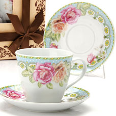 Чайный сервиз Lorraine LR-25795 12пр 220мл фарфор РозыСервировка стола<br><br>