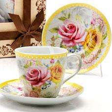Чайный сервиз Lorraine LR-25793 12пр 220мл фарфор РозыСервировка стола<br><br>