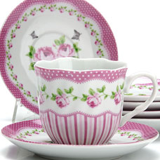 Чайный сервиз Lorraine LR-25916 12пр 220мл ЦветыСервировка стола<br><br>