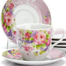Чайный сервиз Lorraine LR-25910 12пр 220мл ЦветыСервировка стола<br><br>