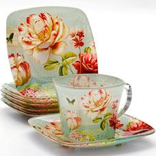 Чайный набор Lorraine LR-24127 12пр 200мл стеклоСервировка стола<br><br>
