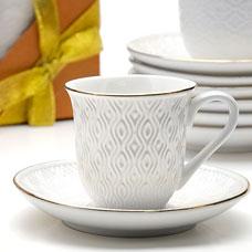 Кофейный набор Lorraine LR-25773 12пр 90мл фарфорСервировка стола<br><br>