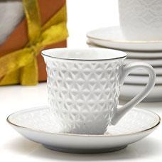 Кофейный набор Lorraine LR-25771 12пр 90мл фарфорСервировка стола<br><br>