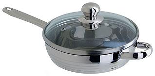Сковорода из нержавеющей стали Regent Inox 93-Lv08 24x5,5 смСковороды антипригарные<br><br>