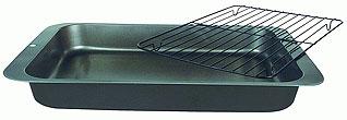 Противень глубокий с решеткой-гриль из углеродистой стали Regent inox 93-CS-EA-2-05 36x27x4,5 смТовары для выпечки<br><br>