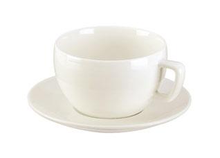 Чашка для завтрака Crema, с блюдцем, Tescoma 387128Сервировка<br><br>
