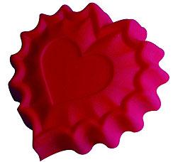 Форма силиконовая Валентинка Regent inox 93-SI-FO-40 25,5x24x3,5 смТовары для выпечки<br><br>