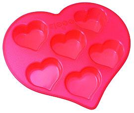 Форма силиконовая Сердечки Regent inox 93-SI-FO-19 26,5x25,5x4 смТовары для выпечки<br><br>