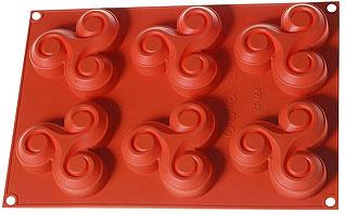 Форма силиконовая Крендель Regent inox 93-SI-FO-41 30x21x2,5 смТовары для выпечки<br><br>