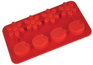 Форма силиконовая для льда Цветочки Regent inox 93-SI-FO-16.8 19,5x10,5x2,5 смБарные принадлежности<br><br>