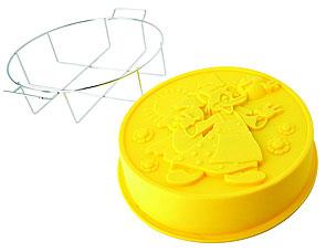 Форма для выпечки Колобок с металлической подставкой Regent inox 93-SI-FO-106 25x6 смТовары для выпечки<br><br>
