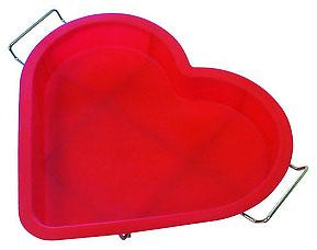 Форма силиконовая Сердце с металлической подставкой Regent inox 93-SI-FO-17 28x24,5x3 смТовары для выпечки<br><br>