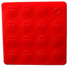Прихватка-подставка под горячее Сердца Regent inox 93-SI-CU-04.1 18x18 смРазное<br><br>