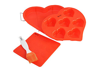 Набор силиконовых форм От всего сердца Regent inox 93-SI-S-06Товары для выпечки<br><br>