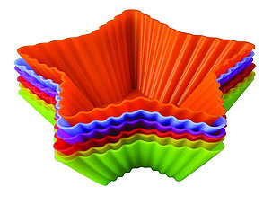 Набор силиконовых форм Тарталетки-звезды Regent inox 93-SI-S-17.1 10x3,5 смТовары для выпечки<br><br>