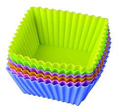 Набор силиконовых форм Тарталетки квадратные Regent inox 93-SI-S-17.4 7x3,5 смТовары для выпечки<br><br>