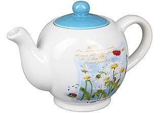Чайник заварочный Rosenberg 8057-7 (ромашки)Заварочные чайники<br><br>