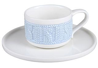 Чашка с блюдцем Rosenberg 1010 90 мл (цвет голубой)Сервировка стола<br><br>