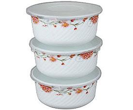 Набор контейнеров с пластиковой крышкой Rosenberg 1218-641 19смХранение продуктов<br><br>