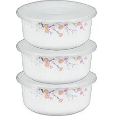Набор контейнеров с пластиковой крышкой Rosenberg 1258-1 19смХранение продуктов<br><br>