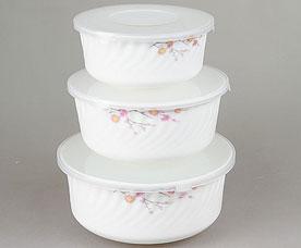 Набор контейнеров с пластиковой крышкой Rosenberg 1259-1 19см, 16,5см, 14смХранение продуктов<br><br>