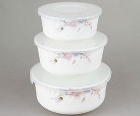Набор контейнеров с пластиковой крышкой Rosenberg 1259-4 19см, 16,5см, 14смХранение продуктов<br><br>